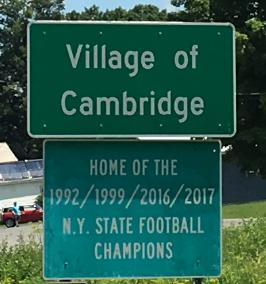 Village of Cambridge sign