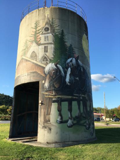 Silo, horses